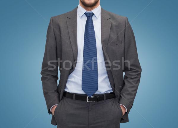 Zakenman Blauw zakenlieden kantoor business Stockfoto © dolgachov