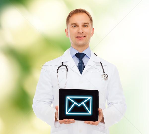 Stok fotoğraf: Gülen · erkek · doktor · stetoskop · tıp · meslek