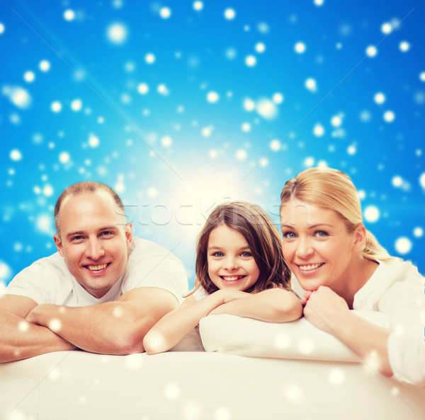happy family at home Stock photo © dolgachov
