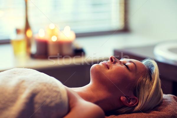 Spa personas relajación Foto stock © dolgachov