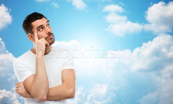 человека мышления Blue Sky люди облака Сток-фото © dolgachov