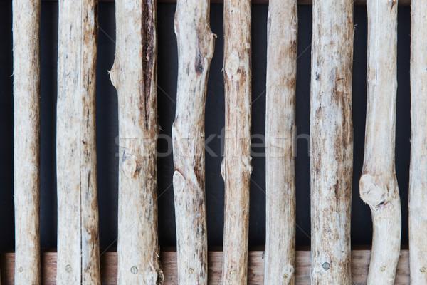Kerítés zsalu fából készült hátterek textúra fal Stock fotó © dolgachov