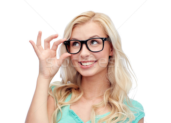 Smiley coed in glasses slowly uncovering her petite curves № 388947 без смс