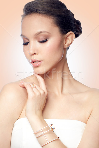 Photo stock: Belle · asian · femme · anneau · bracelet · beauté