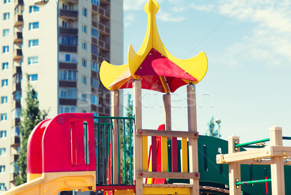 close up of climbing frame at children playground Stock photo © dolgachov