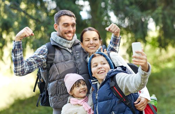 Familia toma bosques viaje turismo Foto stock © dolgachov
