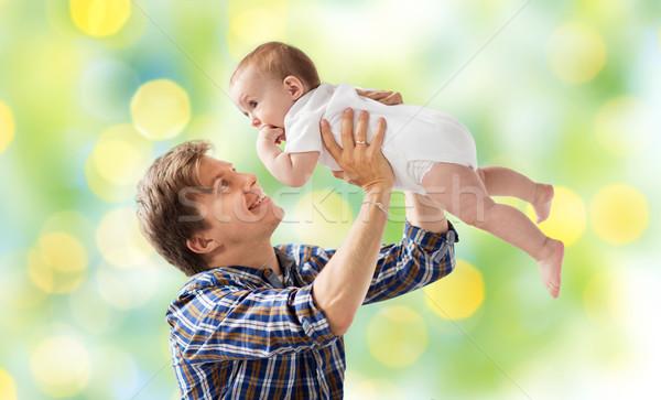 幸せ 小さな 父 演奏 赤ちゃん ライト ストックフォト © dolgachov