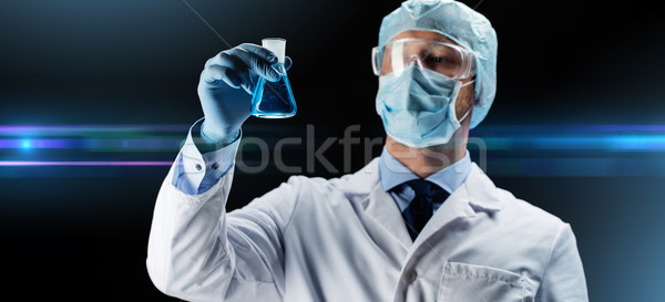 ученого маске колба химического науки Сток-фото © dolgachov