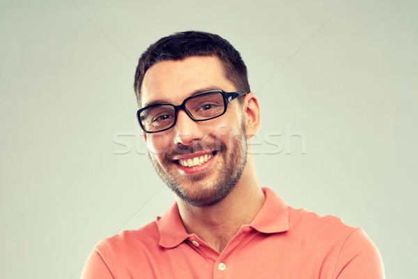 肖像 幸せ 笑みを浮かべて 男 眼鏡 ビジネスの方々 ストックフォト © dolgachov
