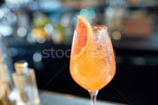 ガラス グレープフルーツ カクテル バー アルコール ドリンク ストックフォト © dolgachov