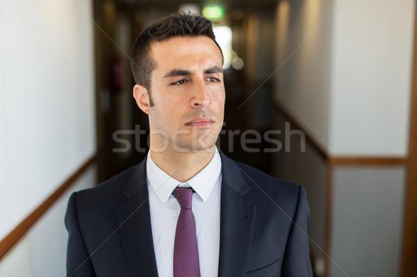 Biznesmen garnitur hotel korytarz ludzi biznesu działalności Zdjęcia stock © dolgachov