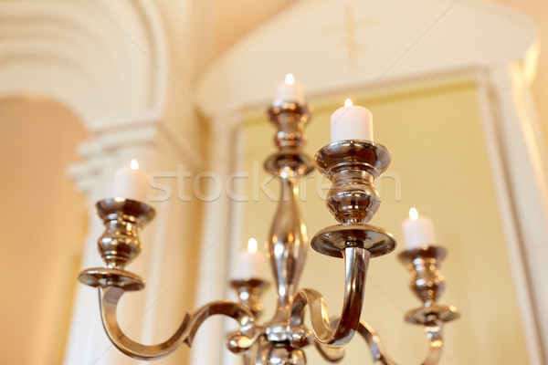 Velas ardente ortodoxo igreja religião cristandade Foto stock © dolgachov