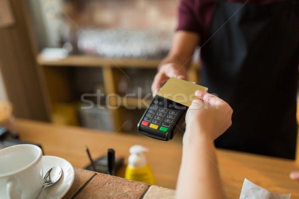 Handen betaling creditcard moderne technologie mensen Stockfoto © dolgachov