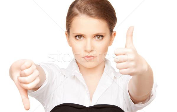 thumbs up and thumbs down Stock photo © dolgachov