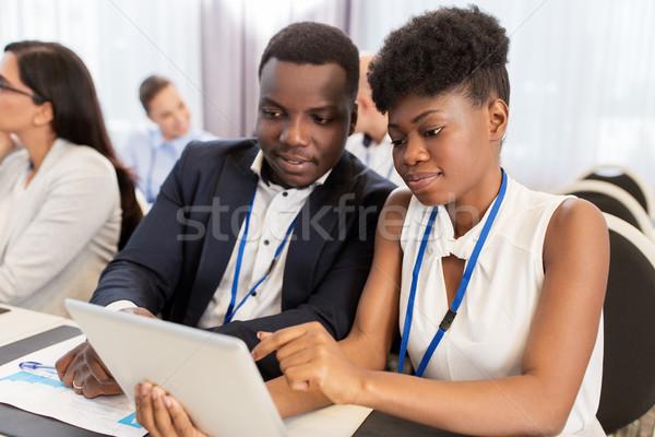 Takım iş konferans iş adamları eğitim Stok fotoğraf © dolgachov