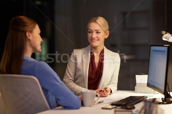 幸せ 実業 話し 遅い 1泊 オフィス ストックフォト © dolgachov