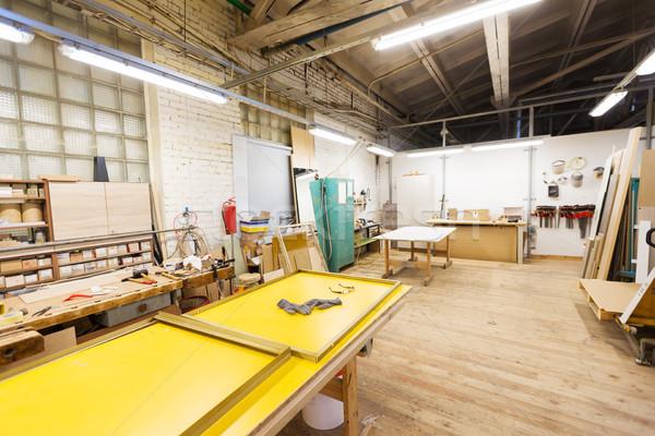 woodworking factory workshop Stock photo © dolgachov