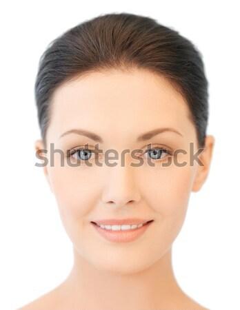 Cara belo jovem morena mulher limpar Foto stock © dolgachov