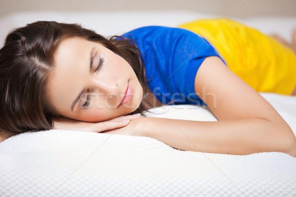 Alszik nő fényes kép gyönyörű boldog Stock fotó © dolgachov
