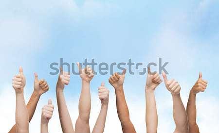 Ludzi ręce gest części ciała Zdjęcia stock © dolgachov