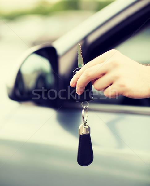 男 車のキー 外 交通 所有権 車 ストックフォト © dolgachov