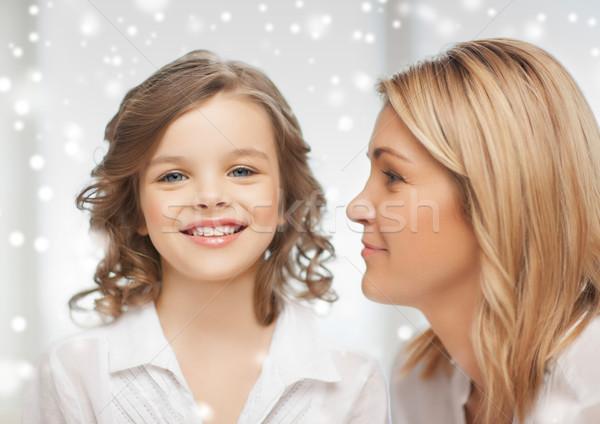Glücklich Mutter Tochter Menschen Mutterschaft Familie Stock foto © dolgachov