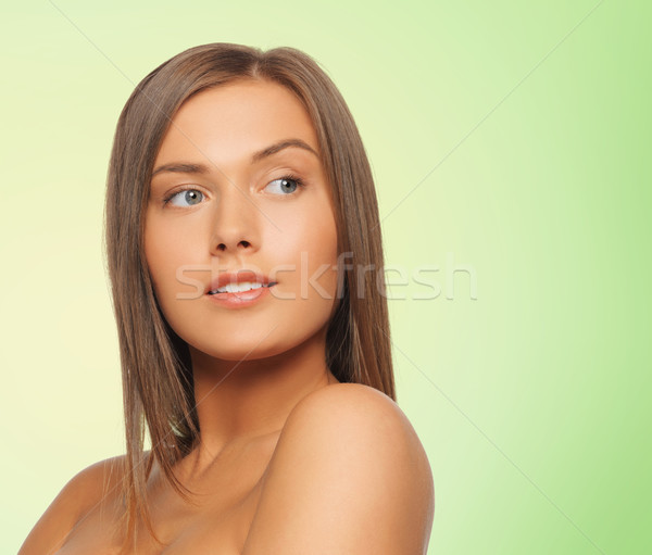 красивой голый Плечи красоту люди Сток-фото © dolgachov