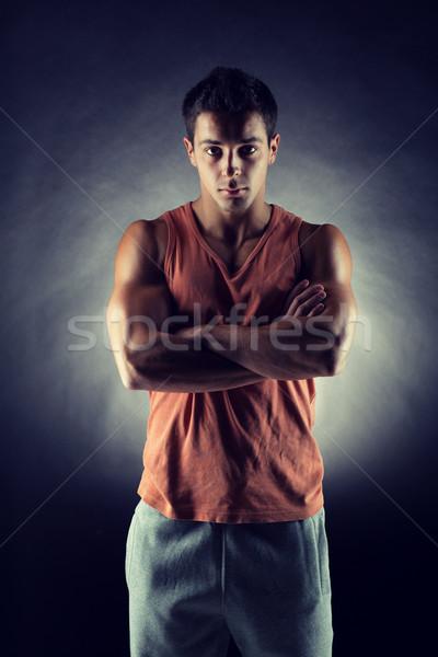 young male bodybuilder Stock photo © dolgachov