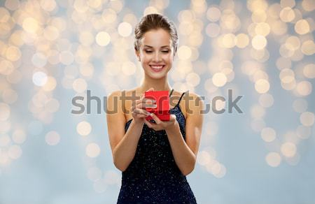 beautiful sexy woman in red dress Stock photo © dolgachov