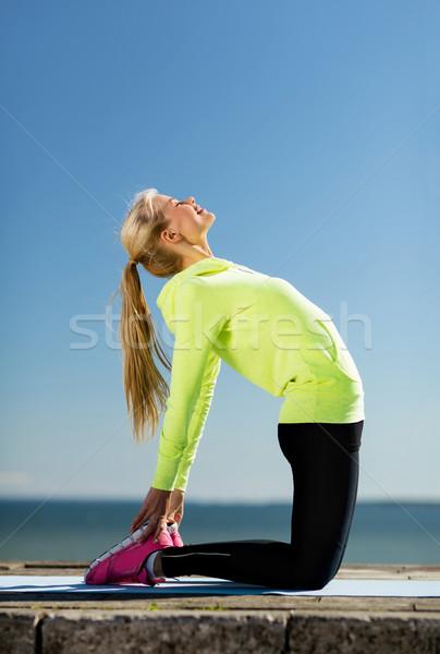 Stok fotoğraf: Kadın · spor · açık · havada · spor · yaşam · tarzı · vücut