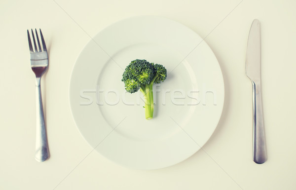 Broccoli piatto dieta cibo vegetariano Foto d'archivio © dolgachov