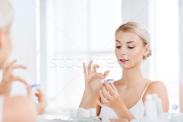 ванную красоту видение зрение Сток-фото © dolgachov