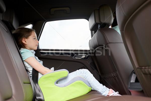 Familia nino seguridad asiento conducción coche Foto stock © dolgachov