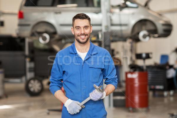 Meccanico auto chiave auto workshop servizio riparazione Foto d'archivio © dolgachov