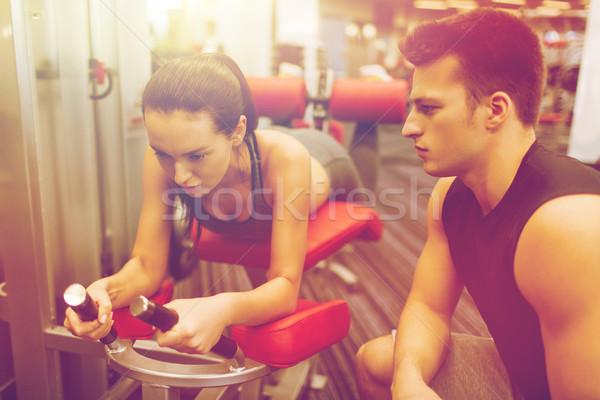 тренер спортзал машина спорт Сток-фото © dolgachov