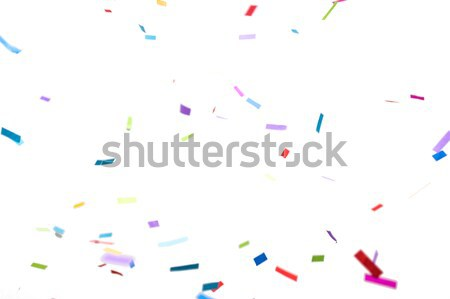 ストックフォト: 紙吹雪 · 白 · パーティ · 装飾 · 休日 · カーニバル