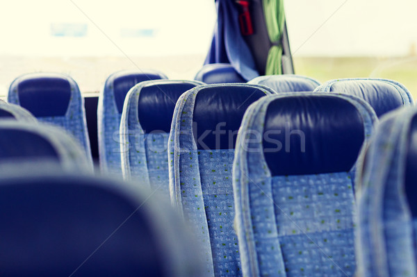 travel bus interior and seats Stock photo © dolgachov