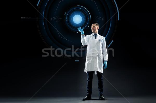 医師 科学 バーチャル 投影 科学 将来 ストックフォト © dolgachov
