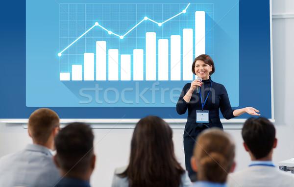 Grupy ludzi działalności konferencji wykład statystyka ludzi Zdjęcia stock © dolgachov