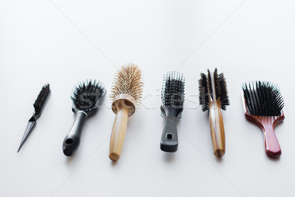 different hair brushes or combs Stock photo © dolgachov