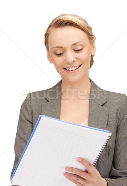 幸せ 女性 ビッグ 帳 画像 ビジネス ストックフォト © dolgachov