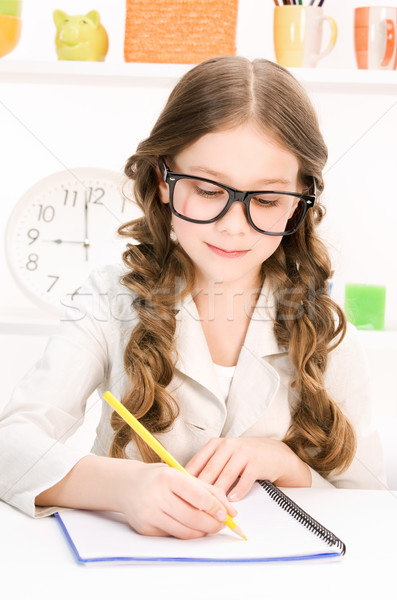 elementary school student Stock photo © dolgachov