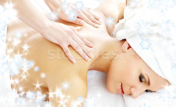 professional massage with snowflakes #2 Stock photo © dolgachov