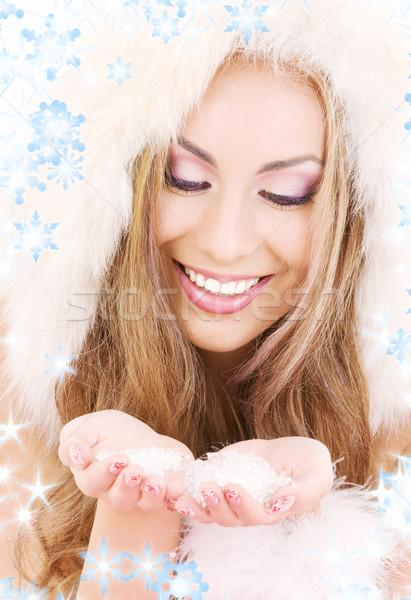 handful of ice Stock photo © dolgachov