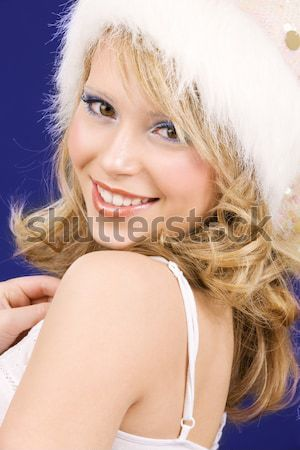 Helper ragazza foto bianco Foto d'archivio © dolgachov