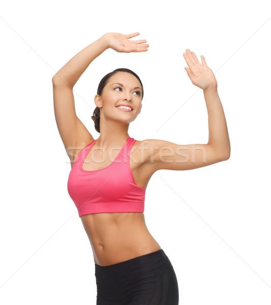 Donna aerobico dance movimento bella Foto d'archivio © dolgachov
