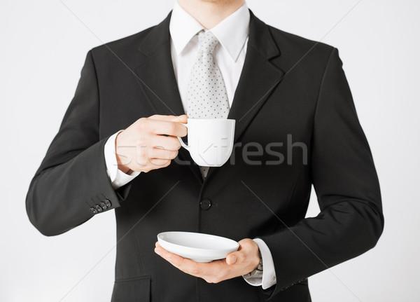 Man naar vergadering werk Stockfoto © dolgachov