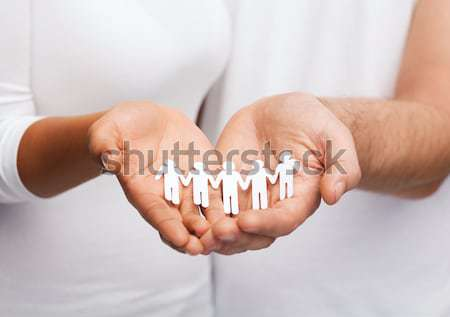 man hands with paper team Stock photo © dolgachov