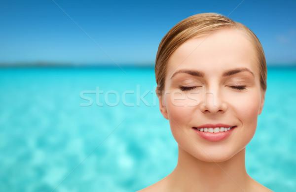 Faccia bella donna salute bellezza primo piano Foto d'archivio © dolgachov