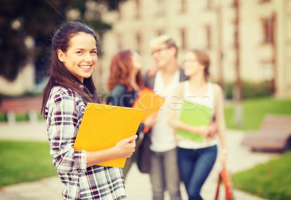 Adolescente dossiers Retour été vacances éducation Photo stock © dolgachov
